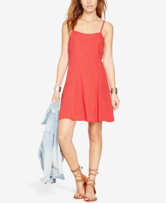 Denim & Supply Ralph Lauren Star-Print Slip Dress