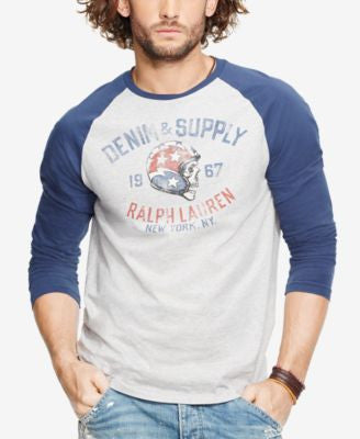 Denim & Supply Ralph Lauren Men's Graphic Baseball Shirt