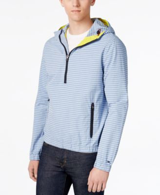 Tommy Hilfiger Men's Marina Anorak Striped Hoodie