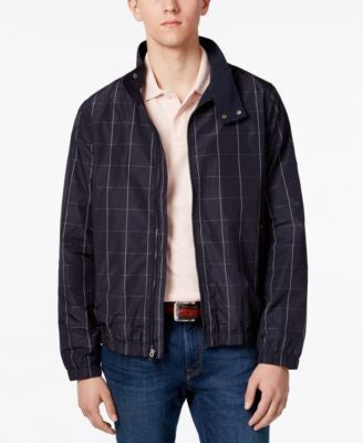 Tommy Hilfiger Men's Nicholas Windowpane Windbreaker