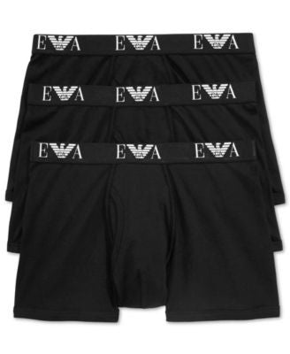 Emporio Armani Men's Genuine Cotton Trunk 3-Pack