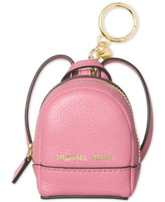 MICHAEL Michael Kors Rhea Backpack Leather Key Charm