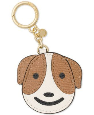 MICHAEL Michael Kors Crazy Canine Leather Key Charm