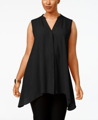 Alfani Plus Size Handkerchief-Hem Top, Only at Vogily