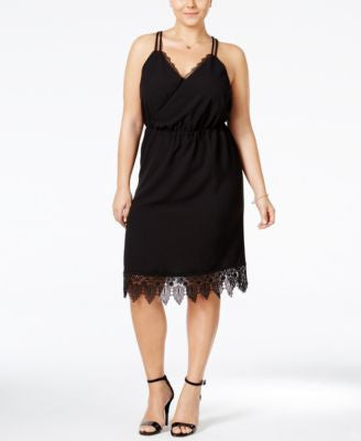 Junarose Plus Size Lace-Trim Racerback Sheath Dress