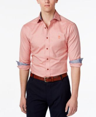 Vince Camuto Men's Contrast-Cuff Long-Sleeve Shirt