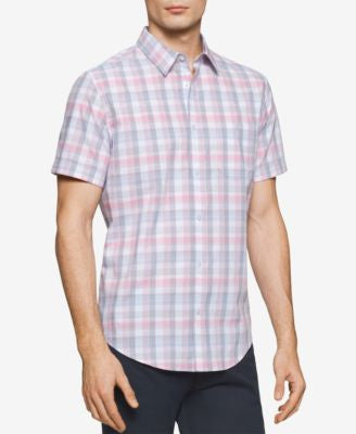 Calvin Klein Men's Checked Short-Sleeve Shirt