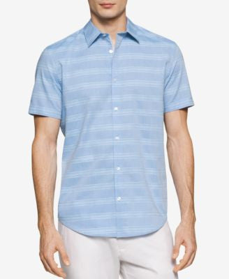 Calvin Klein Men's Striped Short-Sleeve Shirt