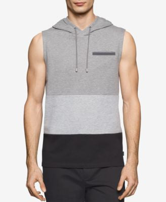 Calvin Klein Men's Colorblocked Sleeveless Hoodie