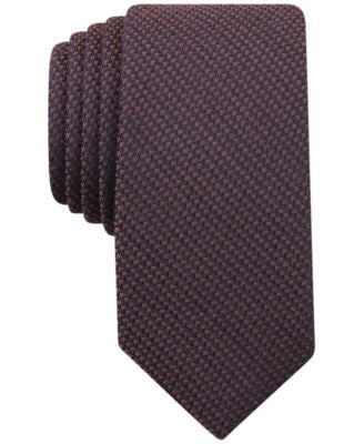 Bar III Men's Knit Solid Skinny Tie, Only at Vogily
