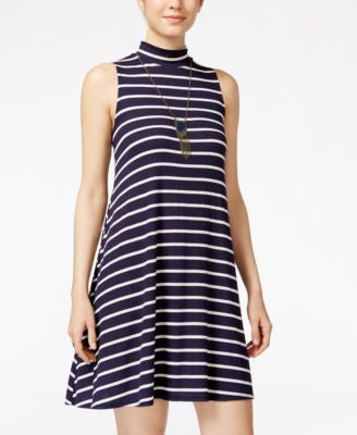 BCX Juniors' Striped Necklace Shift Dress