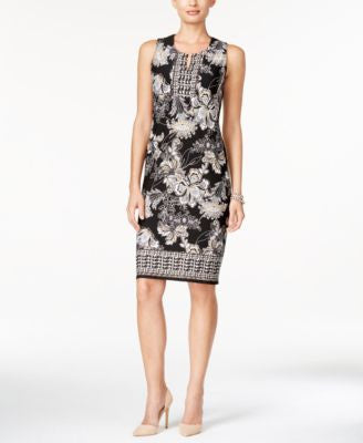 JM Collection Printed Sheath Dress, Only at Vogily