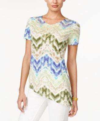 Alfred Dunner Cyprus Collection Short-Sleeve Printed Top