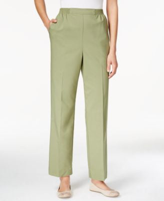 Alfred Dunner Cyprus Collection Pull-On Straight-Leg Pants