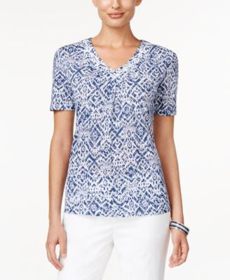 Alfred Dunner St. Augustine Collection Printed Beaded Top