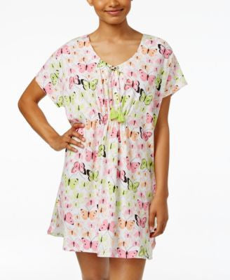 Hue Butterfly Bouquet Short Caftan