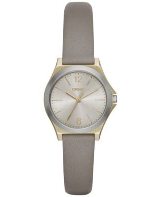 DKNY Women's Parsons Gray Leather Strap Watch 30mm NY2482