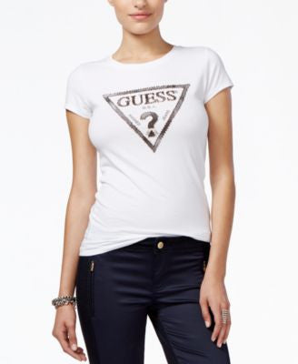 GUESS Beaded Logo T-Shirt
