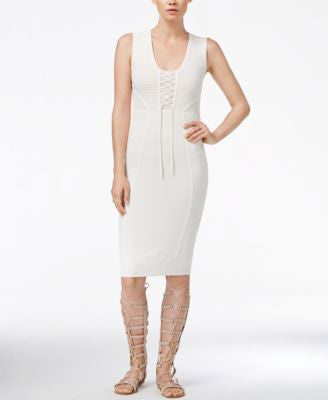 RACHEL Rachel Roy Lace-Up Knit Dress