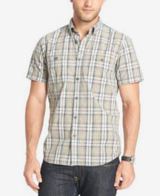 G.H. Bass & Co. Textured Woven Short-Sleeve Shirt
