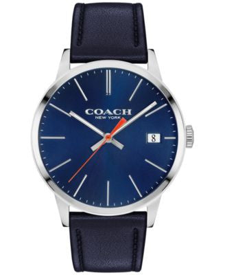 COACH Men's Metropolitan Navy Leather Strap Watch 42mm 14602094