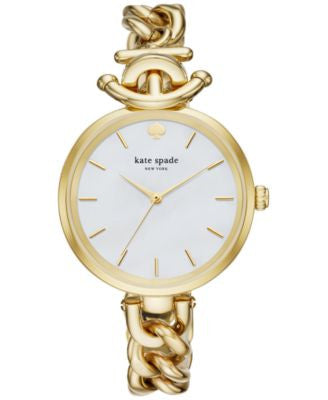 kate spade new york Women's Holland Gold-Tone Stainless Steel Bracelet Watch 34mm KSW1140