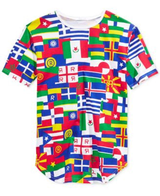 Reason Men's Flags of the World Graphic T-Shirt