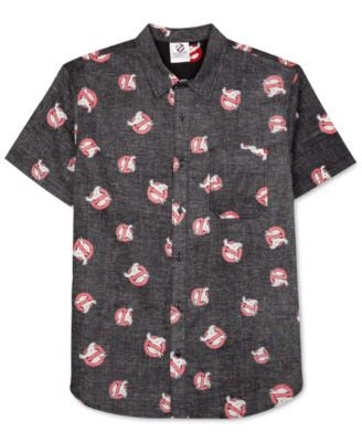 Jem Men's Ghostbusters Graphic-Print Short-Sleeve Shirt