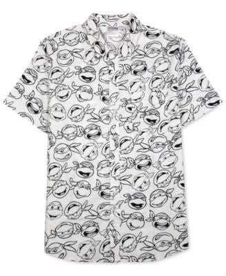 Jem Men's Ninja Turtles Graphic-Print Short-Sleeve Shirt