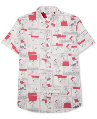 Jem Men's Snoopy Graphic-Print Short-Sleeve Shirt