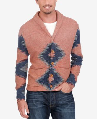 Lucky Brand Men's Intarsia Cowl-Neck Sweater