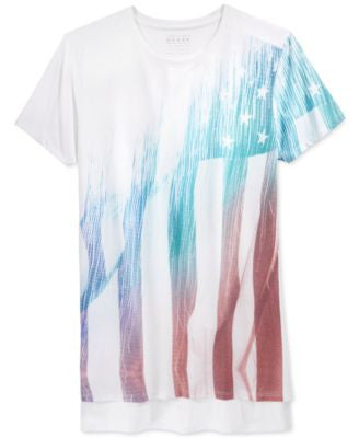 GUESS Men's American Flag Graphic-Print T-Shirt