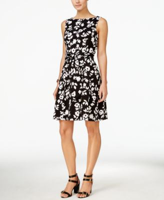Anne Klein Floral-Print A-Line Dress