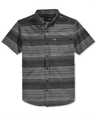 Hurley Men's Comrade Striped Short-Sleeve Shirt