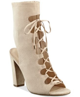 GUESS Women's Laila Lace-Up Block-Heel Sandals