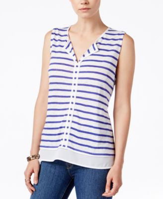 Sanctuary Hanna Striped Layered Top