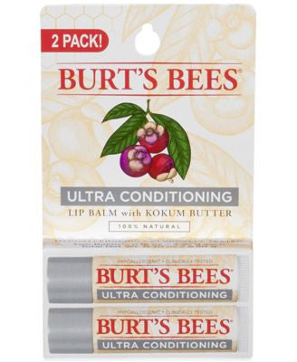 Burt's Bees 2-Pk. Lip Balm - Ultra Conditioning with Kokum Butter
