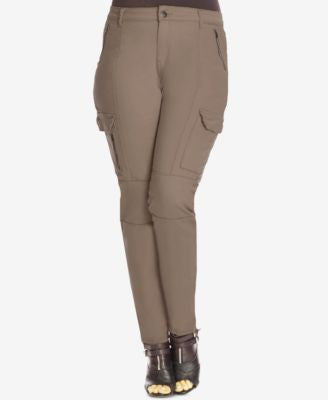 City Chic Plus Size Skinny Cargo Pants