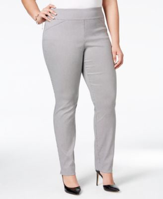 Charter Club Plus Size Houndstooth-Print Pants, Only at Vogily