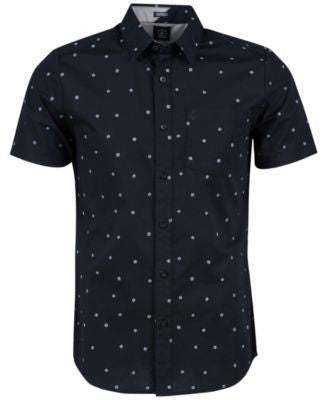 Volcom Men's Royal Flush Geometric Short-Sleeve Shirt