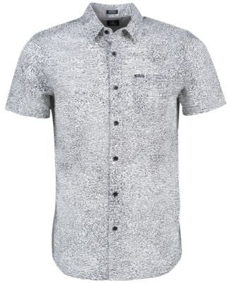 Volcom Men's New Noise Squiggle Print Short-Sleeve Shirt