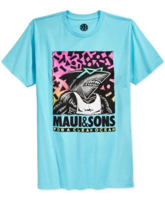 Maui and Sons Men's 4 Clean Ocean T-Shirt