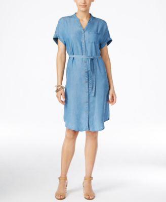 Style & Co. Denim Shirtdress, Only at Vogily