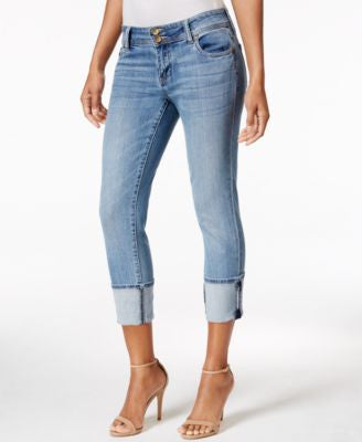 Kut from the Kloth Cropped Straight-Leg Jeans, Moderate Wash