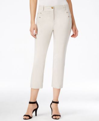 Style & Co. Petite Stud-Detail Cropped Pants, Only at Vogily