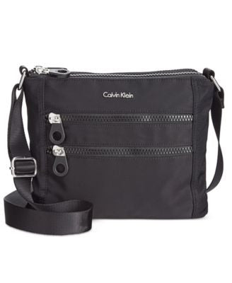 Calvin Klein Double Zip Nylon Crossbody