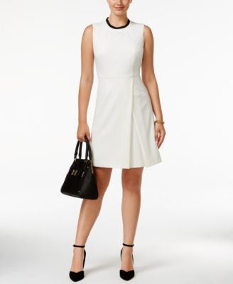 Tommy Hilfiger Pleated A-Line Dress