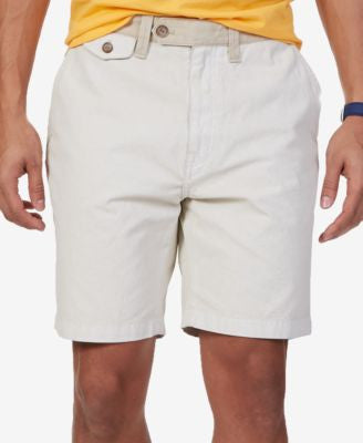 Nautica Men's Modern-Fit Flat-Front Canvas Shorts