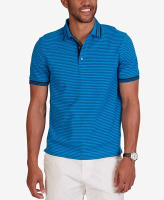 Nautica Men's Striped Slim Fit Pique Polo