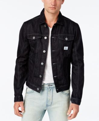 Calvin Klein Men's Rinse Wash Trucker Jacket